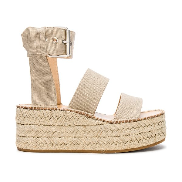 Rag & Bone Canvas Tara Sandals in neutrals - Canvas upper with rubber sole.  Made in Italy.  Shaft...