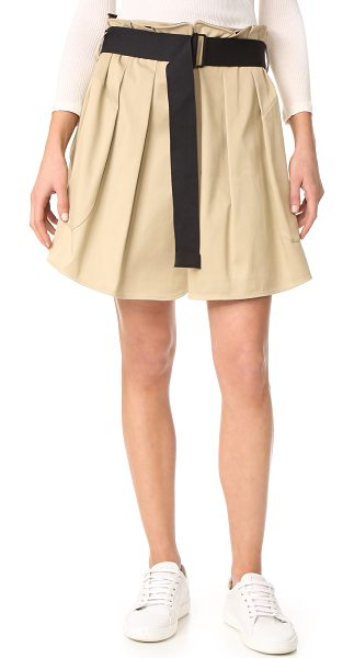 Rag & Bone chapman culottes in beige - NOTE: Runs true to size. Overlays lend volume to these...
