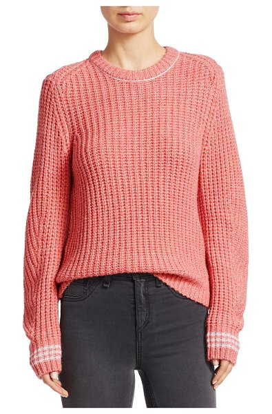 Rag & Bone cheryl rib-knit sweater in pinkmulti - From the Saks IT LIST. PUTTING ON THE KNITS. That...