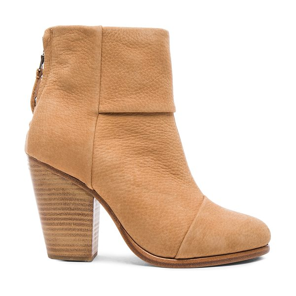 Rag & Bone Classic leather newbury booties in neutrals - Nubuck leather upper with leather sole.  Made in China. ...
