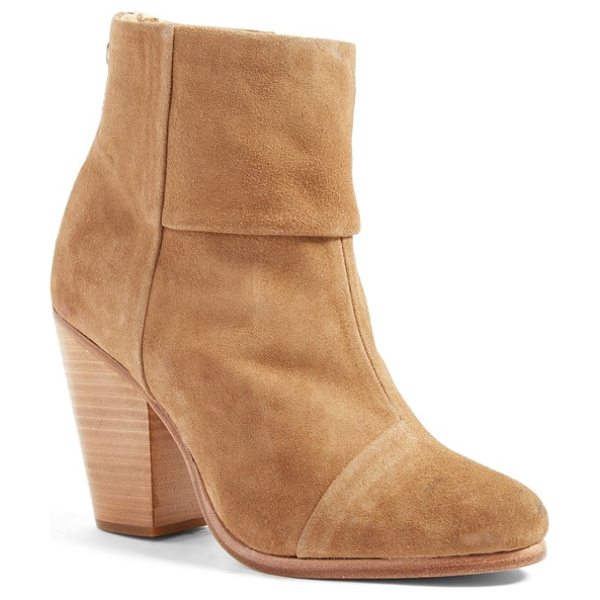 Rag & Bone 'classic newbury' boot in camel suede - A stacked heel offers walkable lift to a versatile and...