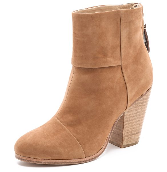 RAG & BONE Classic newbury booties in nubuck - Artful seaming contours these nubuck Rag & Bone booties...