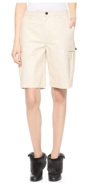 Rag & Bone Combat leather shorts in almond - Rag & Bone cargo shorts cut from luxurious leather offer...