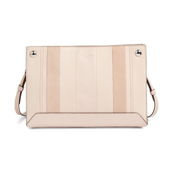 Rag & Bone compass leather crossbody bag in rose dust multi - Set your sights on this stylish Compass crossbody, done...