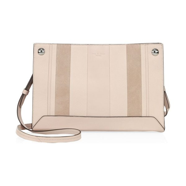 Rag & Bone compass leather crossbody bag in dusty rose - Paneled crossbody bag in a rectangular silhouette....
