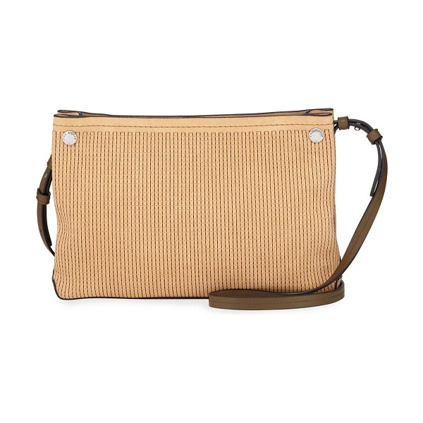Rag & Bone Compass Stitched Suede Crossbody Bag in light brown