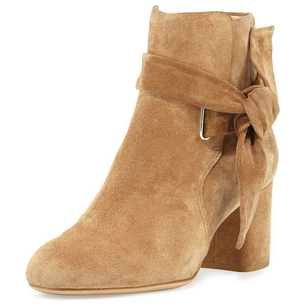 Rag & Bone Dalia Suede Ankle-Tie Bootie in camel - ONLYATNM Only Here. Only Ours. Exclusively for You. Rag...