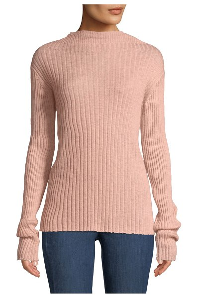 "Rag & Bone Donna Ribbed Mohair Turtleneck Sweater in peach - Rag & Bone ""Donna"" rib-knit sweater. Approx. 24.3""L from..."