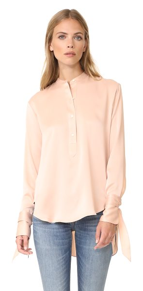 Rag & Bone dylan blouse in dusty rose - This graceful satin Rag & Bone blouse has a curved,...