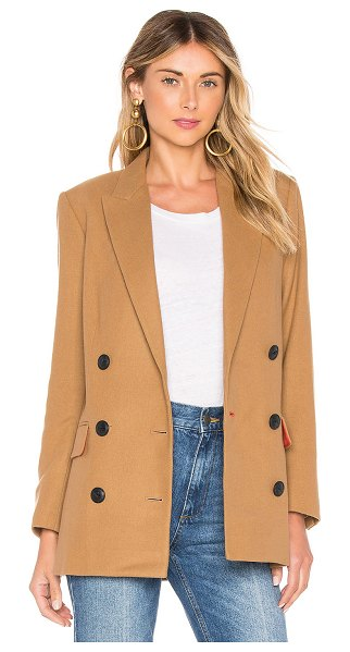 Rag & Bone Ellie Blazer in tan - Dress up your denim with the Rag & Bone Ellie Blazer....