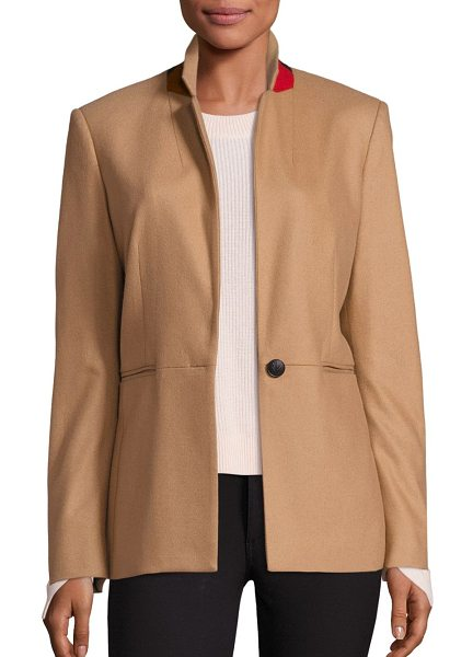 Rag & Bone emmet contrast collar blazer in camel - Contrast collar adds subtle pop of color to blazer....