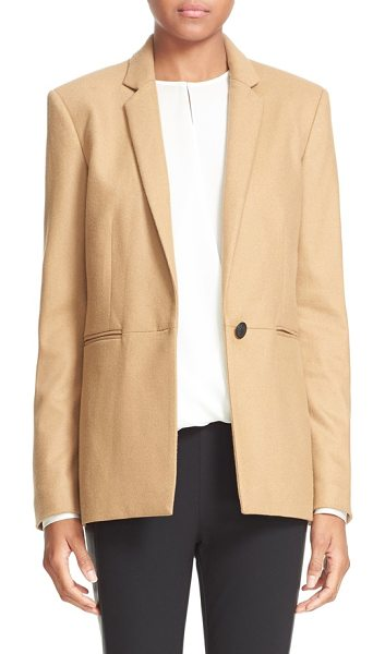 Rag & Bone 'emmet' wool blend blazer in camel - Dagger-embossed buttons, a signature rag & bone detail,...