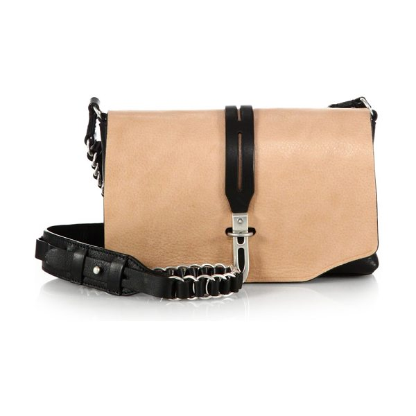 Rag & Bone Enfield mini chain shoulder bag in nude-black