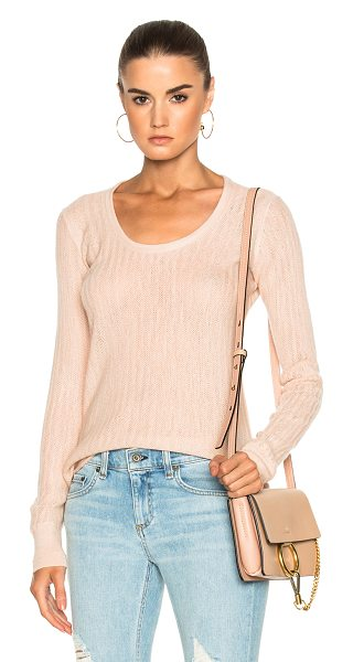 Rag & Bone Estelle Cashmere Scoopneck in rose dust - 100% cashmere. Made in China. Dry clean only. Knit...