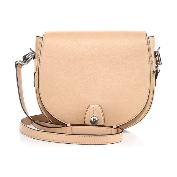 Rag & Bone flight leather saddle bag in nude - Classic saddle-bag design with gleaming silvertone...