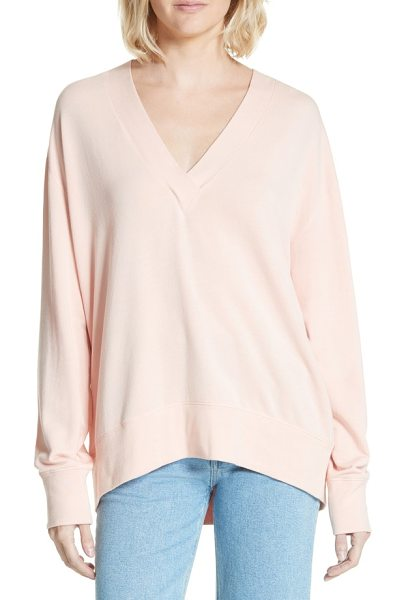Rag & Bone flora sweatshirt in pink rose - This supersoft jersey knit makes for a lusciously...