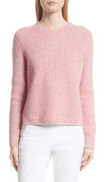 RAG & BONE francie merino wool blend sweater - Suede elbow patches prep up this classic crewneck...