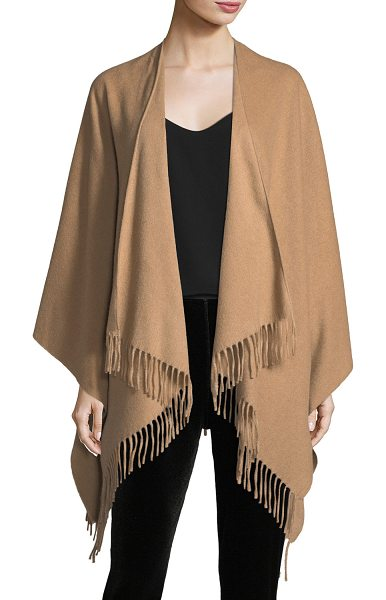 Rag & Bone Fringed Cashmere Serape in camel - Rag & Bone poncho/serape. Twisted fringe. One size....