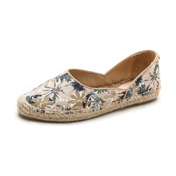 Rag & Bone Georgie espadrilles in botanical print - A high vamp lends a vintage look to these floral canvas...