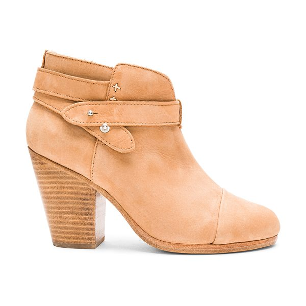 Rag & Bone Harrow Bootie in tan - Suede upper with leather sole. Ankle straps with notch...