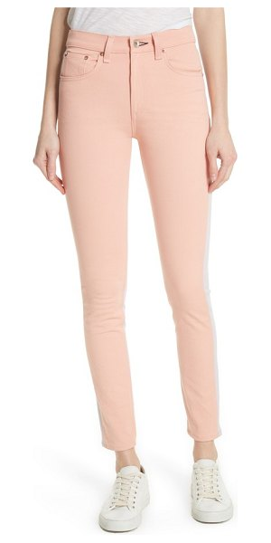 Rag & Bone high waist skinny jeans in peach/ lilac - Make them do a double-take as you walk by in these...