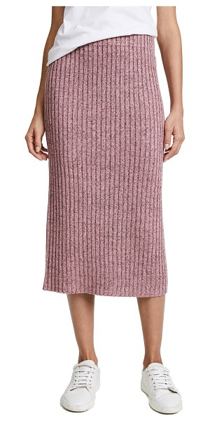 Rag & Bone jubilee skirt in dusty rose - Metallic threads add sparkle to this ribbed-knit Rag &...