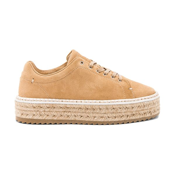 """Rag & Bone Kent Espadrille in tan - """"Suede upper with rubber sole. Lace-up front. Jute trim...."""