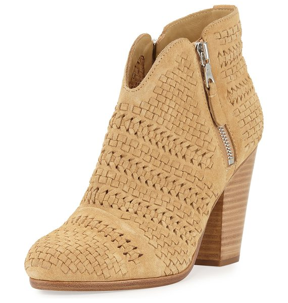 "Rag & Bone Margot Woven Ankle Bootie in dune - Rag & Bone woven suede ankle boot. 3.5"" stacked block..."