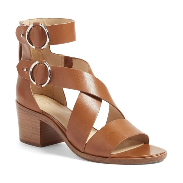 Rag & Bone mari sandal in tan leather - Polished ring hardware highlights the tiered ankle...