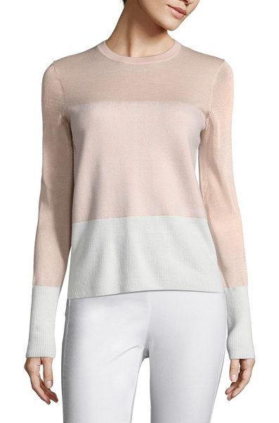 Rag & Bone marissa colorblock sweater in rose dust