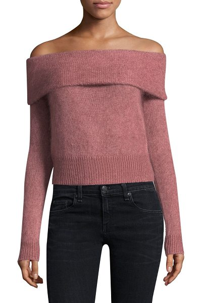 RAG & BONE mimi off-the-shoulder sweater - Off-the-shoulder mohair sweater with ribbed trim....