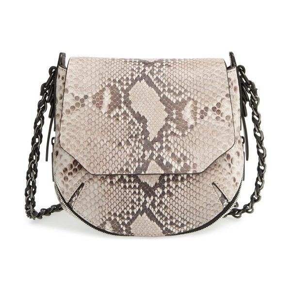 Rag & Bone Mini bradbury leather crossbody hobo in fawn python - A crossbody version of rag & bone's classic hobo turns...
