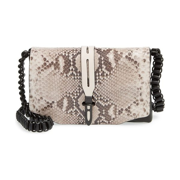 Rag & Bone Mini enfield crossbody bag in fawn python - A snake-embossed flap adds exotic edge to a clean,...
