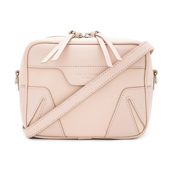Rag & Bone Mini Flight Camera Bag in blush - Leather exterior with canvas fabric lining. Zip around...