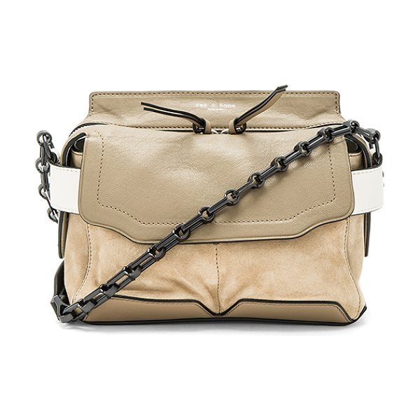 Rag & Bone Mirco Pilot Satchel in taupe - Put your accessories selection on auto pilot. Let the...