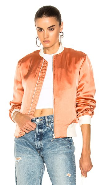 Rag & Bone Morton Bomber Jacket in orange - Self: 100% viscose - Lining: 75% cotton 25% polyamide -...
