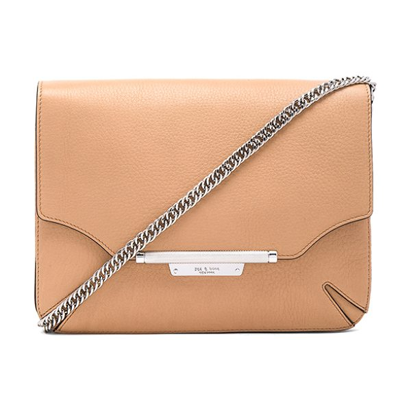 Rag & Bone Moto clutch in tan - Leather exterior with nylon fabric lining. Flap top with...