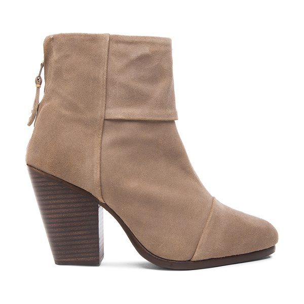 Rag & Bone Newbury suede boots in neutrals - Wax coated suede upper with leather sole.  Made in...