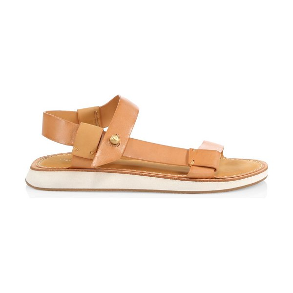 Rag & Bone parker leather sandals in caramel