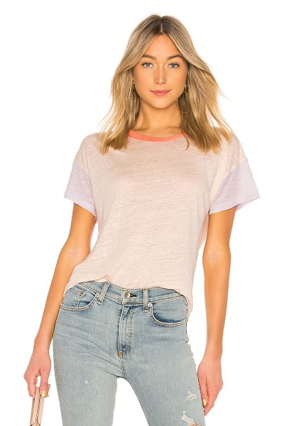 Rag & Bone Payton Tee in pink - Give your basic tee a jolt of color with the Payton Tee...