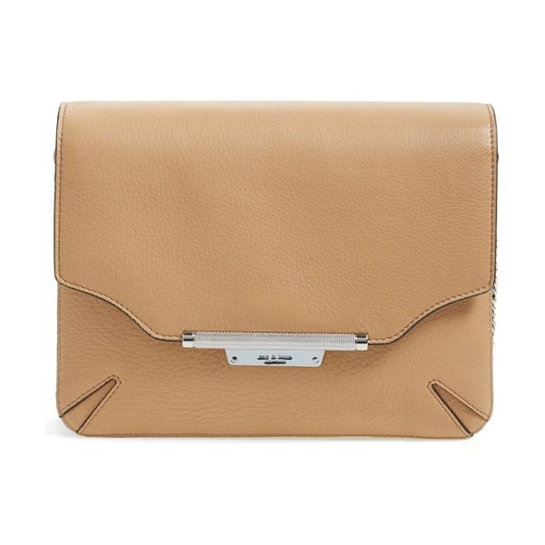 Rag & Bone Pebbled leather crossbody bag in nude multi