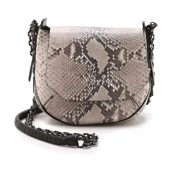 Rag & Bone Printed python bradbury mini chain hobo bag in fawn python - This python embossed Rag & Bone mini bag has a two way...