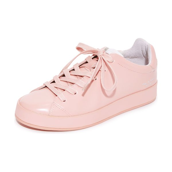 Rag & Bone rb1 low sneakers in pink - Low-top Rag & Bone sneakers crafted in polished leather....