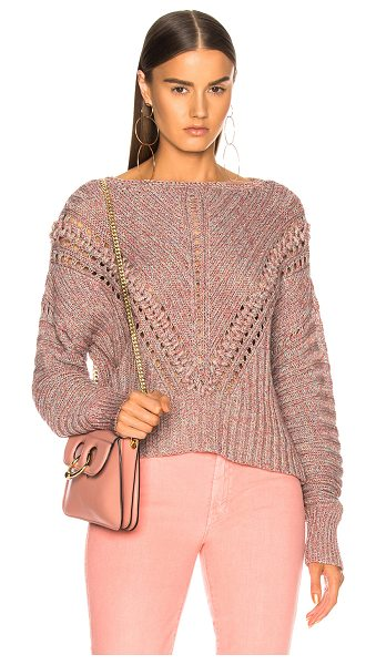 Rag & Bone Roman Pullover in pink - 100% cotton.  Made in China.  Dry clean only.  Knit...