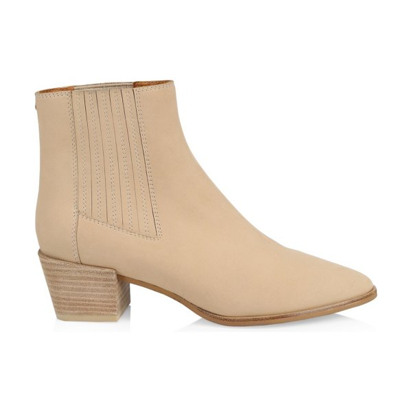 Rag & Bone rover leather ankle boots in beige