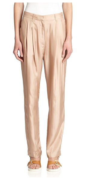 RAG & BONE Sally pleated silk pants - A lustrous silk finish lends a touch of effortless...