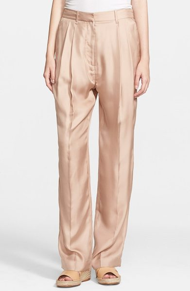 Rag & Bone sally pleated silk pants in rugby tan - Full, relaxed pants shaped by deft pleats are cut from...