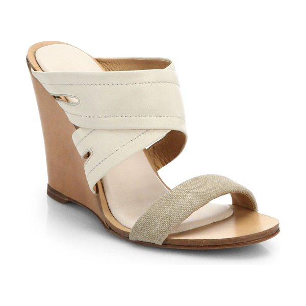 Rag & Bone Shaw mule wedge sandals in natural