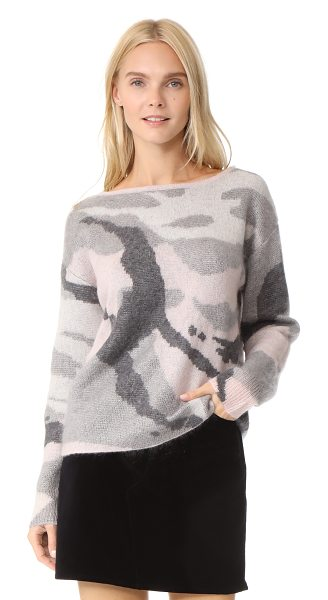 Rag & Bone sinclair sweater in pink - Brushed mohair fibers lend a cozy finish to this...