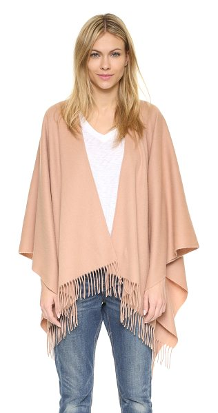 Rag & Bone Single face poncho in mocha - A brushed finish accentuates the cozy feel of this wool...